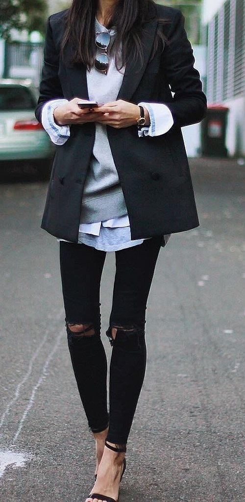 Layers in winter and summer fashion trends